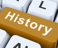 History key means past or old days on keyboard meaning yesterday Royalty Free Stock Photography