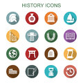 History long shadow icons