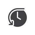 History simple icon vector