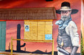 History of williams mural arizona april on route on april in arizona Stock Image