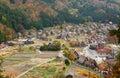 Historyczna idzie shirakawa widok wioska Zdjęcie Stock