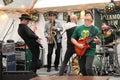 Hit Band guitarist Royalty Free Stock Photo