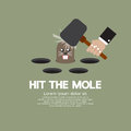 Hit the mole fun game vector illustration Stock Images