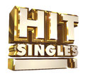 Hit Singles volume 1 - Golden 3d logo