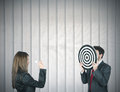 Hit the target Stock Photography