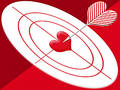 Hit target heart Royalty Free Stock Photography