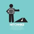 Hitchhike Tourist Symbol Royalty Free Stock Photo