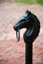 Hitching post Royalty Free Stock Photo
