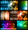 Hitech Abstract Business Backgrounds Stock Photo