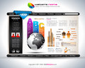 Hitech Website - Elegant Design for Business Royalty Free Stock Images