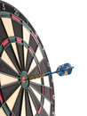 Hitting the bullseye! Royalty Free Stock Image