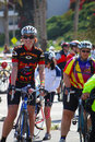 Hiv aids ride hundreds of lifecycle riders entered santa maria on june th for a two day visit to santa barbara county while they Stock Photos