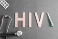 HIV background Royalty Free Stock Photo