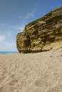 Hive beach cliffs sandstone with pebbled burton bradstock bridport dorset england united kingdom Royalty Free Stock Photo