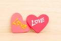 Hjärta med förälskelse Fotografering för Bildbyråer