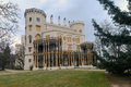 Hluboka nad vltavou сastle czech republic the chateau of was originally founded as a guarding castle in the mid th knight from Stock Image