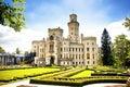 Hluboka nad Vltavou castle Royalty Free Stock Photo
