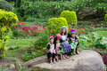 Hmong Hill Tribe Family Royalty Free Stock Images