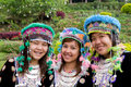 Hmong Hill Tribe Girls Stock Images