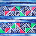 Hmong tribe textile pattern design, watercolor painting hand drawn