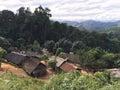 Hmong village in north mountainous Laos Royalty Free Stock Photo