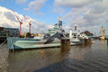 HMS Belfast Royalty Free Stock Photography