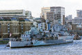 HMS Belfast, London, UK Royalty Free Stock Photo