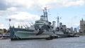 HMS Belfast London uk Royalty Free Stock Photo