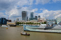 The HMS Belfast warship Royalty Free Stock Photo