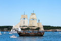Hms bounty in newport parade of sail the participates the ri Royalty Free Stock Photography