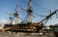 HMS Victory at Portsmouth Harbour, England Royalty Free Stock Photo