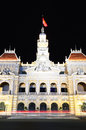Ho chi minh city hall at night scene of vietnam it was built in in a french colonial style for the then of saigon Stock Photo