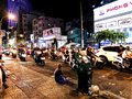 Ho Chi Minh City street filled with mopeds and motorcycles Royalty Free Stock Photo
