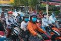 HO CHI MINH CITY,VIETNAM - DEC 10: Road congested with motorists in Ho Chi Minh City Saigon, Vietnam Royalty Free Stock Photo