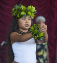 Ho olaule a pacific islands festival henderson nevada sep dancer with traditional dress performs hawaiian dance in the rd annual Stock Photo