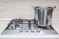 Hob cooker pot pan Royalty Free Stock Photo
