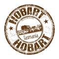 Hobart grunge rubber stamp