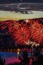 Hobart new years eve fire works Royalty Free Stock Photo