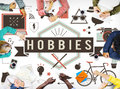 Hobbies Activity Amusement Freetime Interest Concept Royalty Free Stock Photo