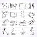 Hobbies and leisure icons vector icon set Royalty Free Stock Images