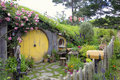 Hobbit Hole in Middle Earth Royalty Free Stock Photo
