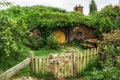 Hobbit holes Royalty Free Stock Photo