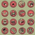 Hobby icon set retro style with Stock Image