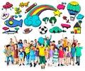 Hobby imagination fun creativity activity inspiration concept Royalty Free Stock Image