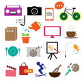 Hobby vector set on white background Royalty Free Stock Photo