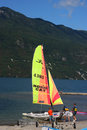 Hobie cat on Lac du Bourget Royalty Free Stock Photo