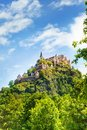 Hochosterwitz castle in austria from forest bellow Stock Photos