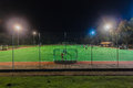 Hockey Astro Field Players Night Practice Royalty Free Stock Photo