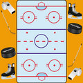 Hockey background card Royalty Free Stock Photo