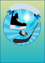 Hockey background sport object poster or flyer with space Royalty Free Stock Image